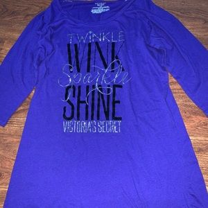 Victoria's Secret Long Sleeve Nightgown, sz Large